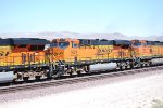 BNSF 6624 heads west in a consist of 15 Locomotives Deaheading from BNSF Barstow yard to Los Angeles, CA.